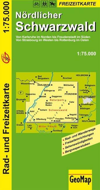 Nördlicher Schwarzwald 1 : 75 000 als Buch