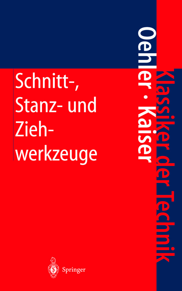 Schnitt-, Stanz- und Ziehwerkzeuge als Buch