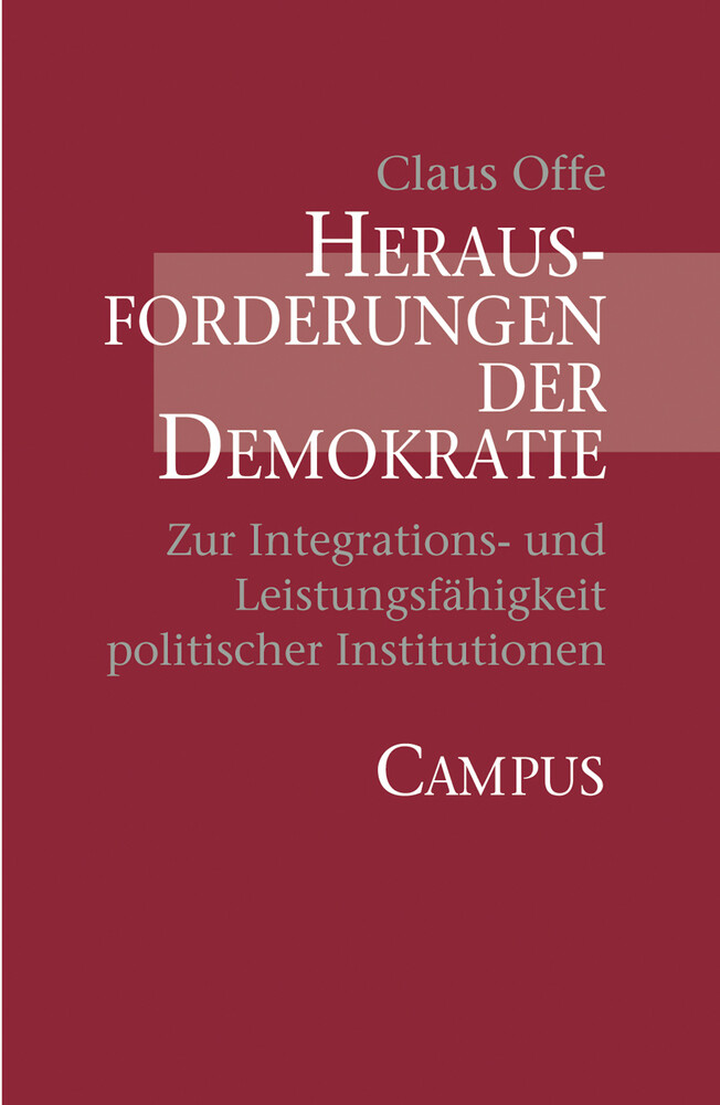 Herausforderungen der Demokratie als Buch