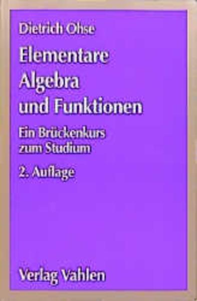 Elementare Algebra und Funktionen als Buch