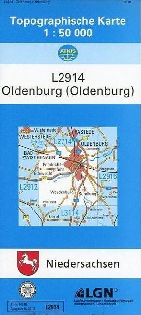 Oldenburg (Oldenburg) 1 : 50 000. (TK 2914/N) als Buch