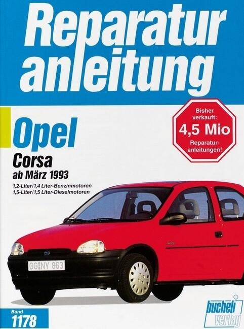 Opel Corsa ab März 1993 als Buch
