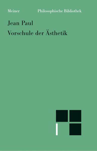 Vorschule der Ästhetik als Buch