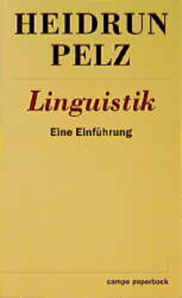Linguistik als Buch