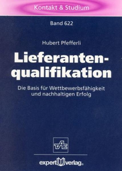Lieferantenqualifikation als Buch
