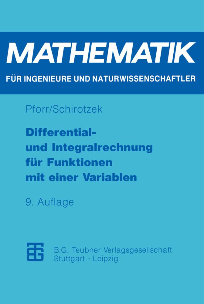 Differential- und Integralrechnung für Funktionen mit einer Variablen als Buch