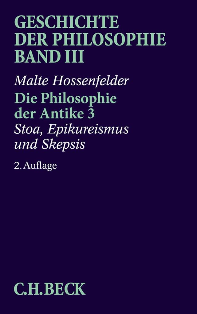 Die Philosophie der Antike 3 als Buch
