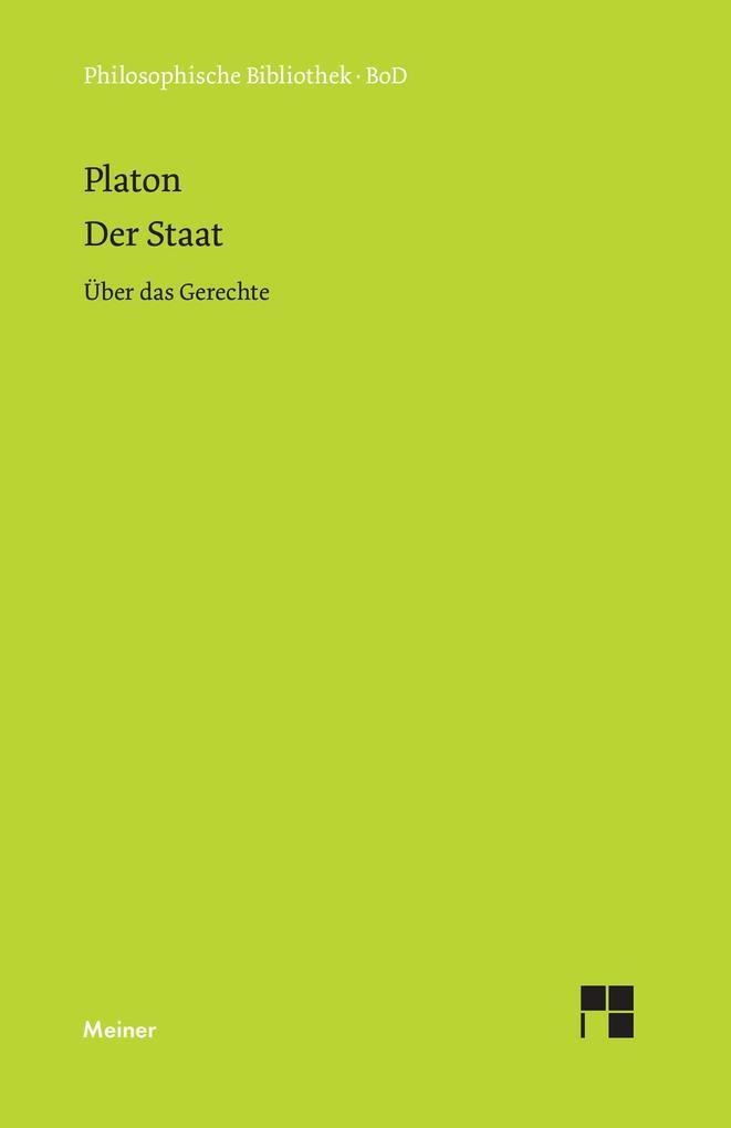 Der Staat / Über das Gerechte als Buch