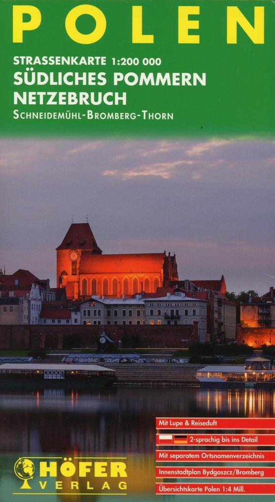 Polen PL004. Südliches Pommern - Netzebruch 1 : 200 000. Straßenkarte als Buch