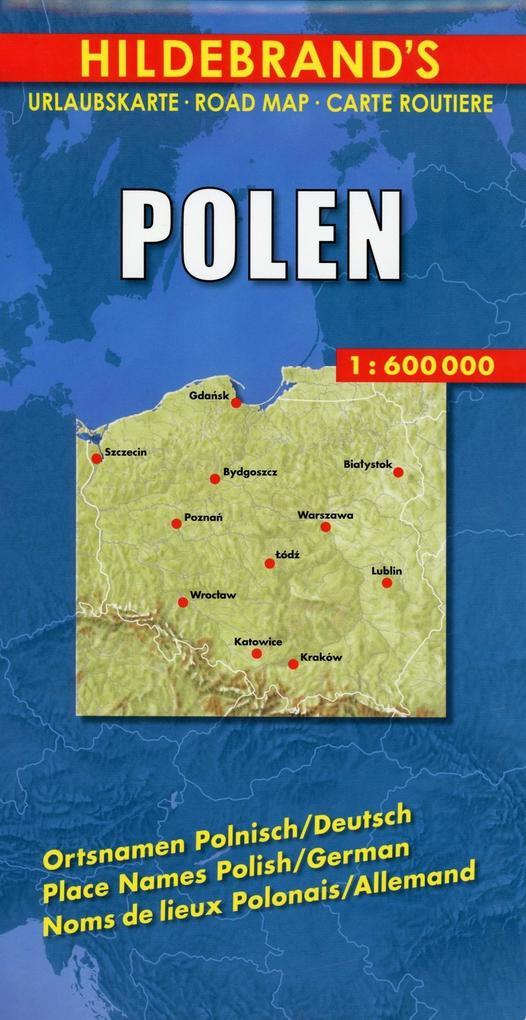 Polen 1 : 600 000. Hildebrand's Urlaubskarte als Buch