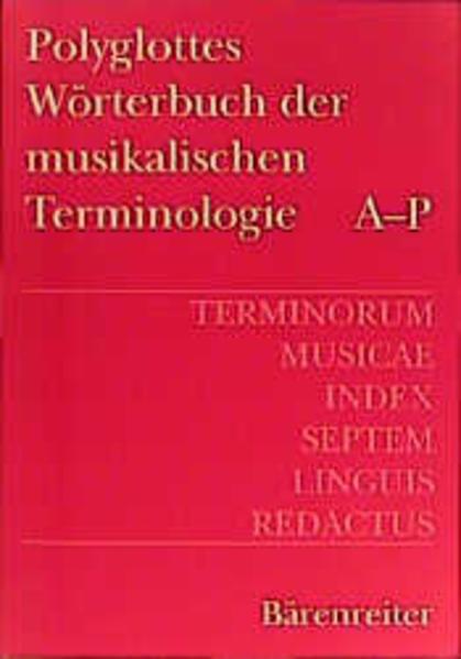 Polyglottes Wörterbuch der musikalischen Terminologie als Buch