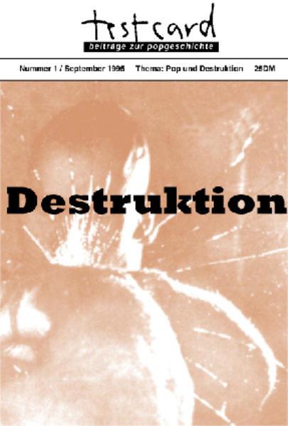 Pop und Destruktion als Buch