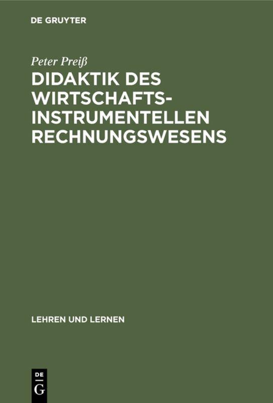 Didaktik des wirtschaftsinstrumentellen Rechnungswesens als Buch