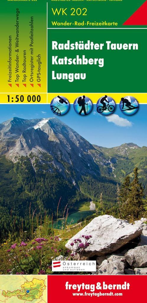 Radstädter Tauern. Katschberg. Lungau 1 : 50 000. WK 202 als Blätter und Karten