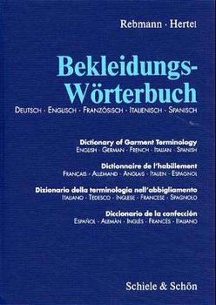 Bekleidungs-Wörterbuch als Buch