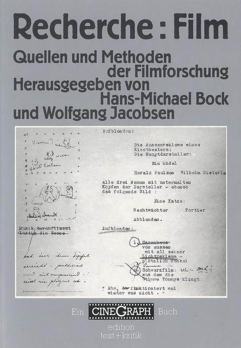 Recherche: Film Quellen und Methoden der Filmforschung als Buch