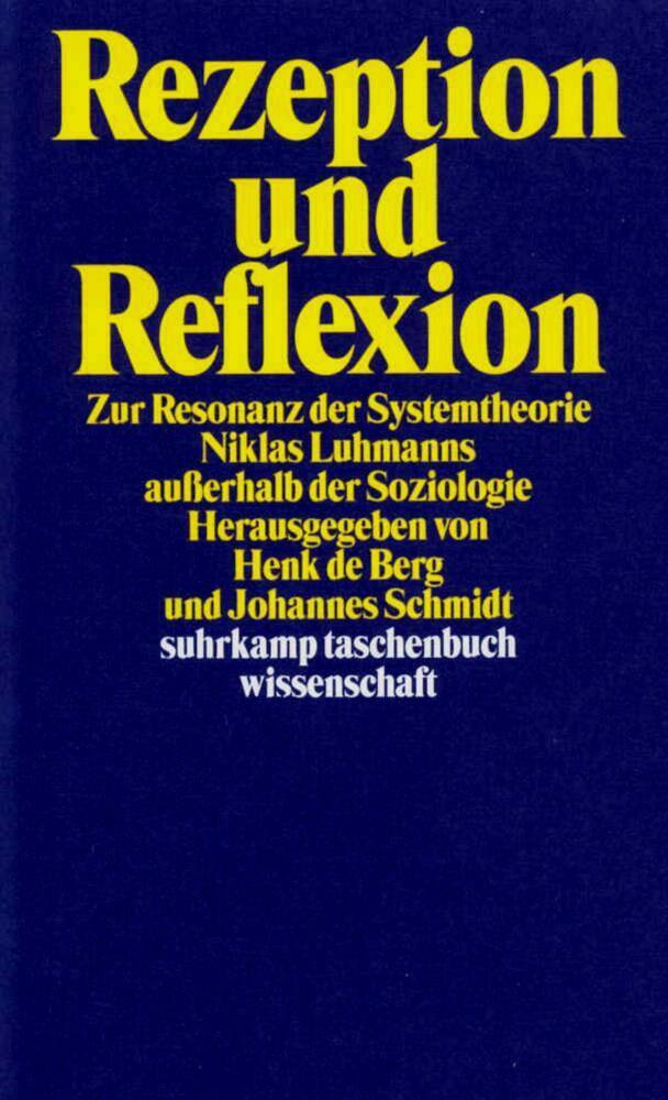 Rezeption und Reflexion als Taschenbuch