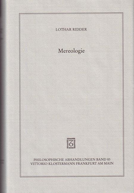 Mereologie als Buch