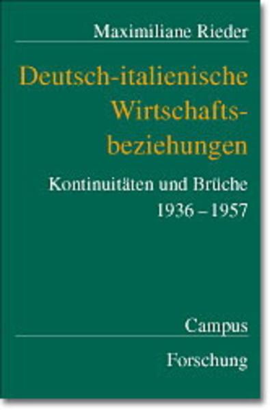 Deutsch-italienische Wirtschaftsbeziehungen als Buch