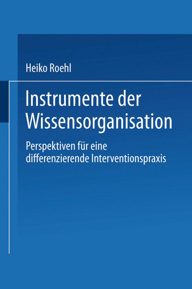 Instrumente der Wissensorganisation als Buch
