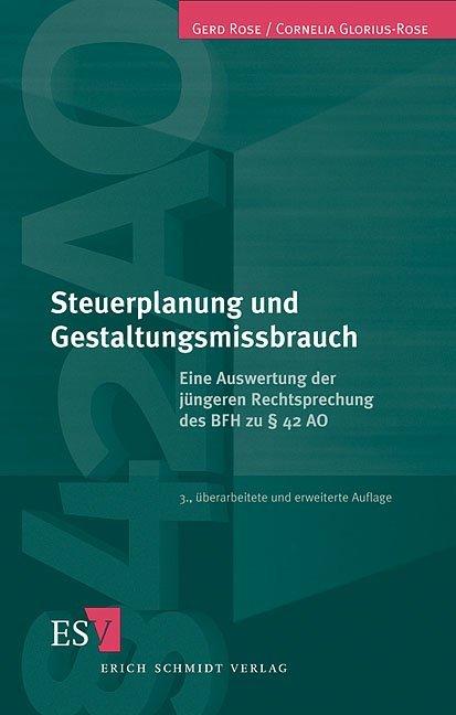 Steuerplanung und Gestaltungsmißbrauch als Buch