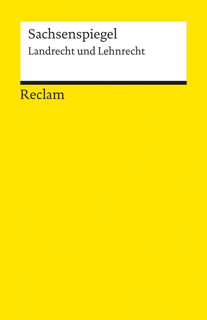 Sachsenspiegel. Landrecht und Lehnrecht als Taschenbuch