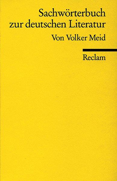 Sachwörterbuch zur deutschen Literatur als Taschenbuch