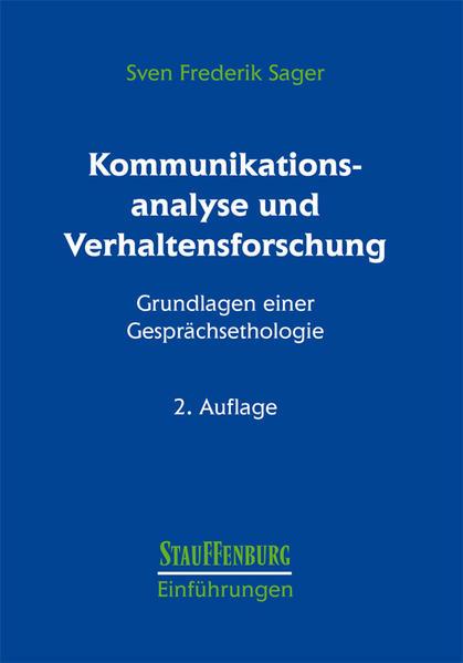 Kommunikationsanalyse und Verhaltensforschung als Buch