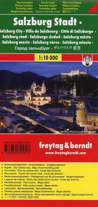 Salzburg Stadt 1 : 10 000 Touristenplan als Buch