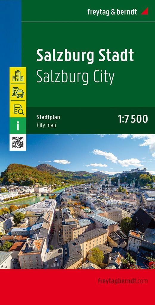 Salzburg Stadt, Stadtplan 1:7.500 - 1:15.000 als Buch
