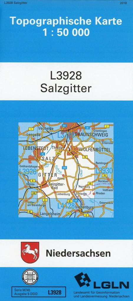 Salzgitter 1 : 50 000. (TK 3928/N) als Buch