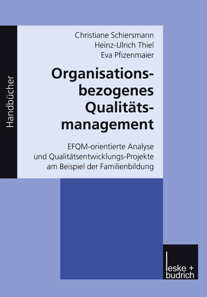 Organisationsbezogenes Qualitätsmanagement als Buch