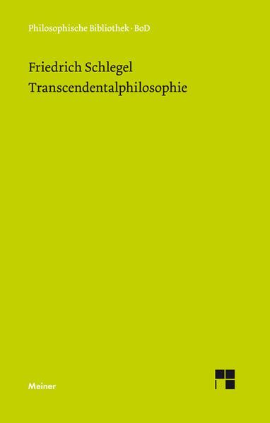 Transcendentalphilosophie als Buch