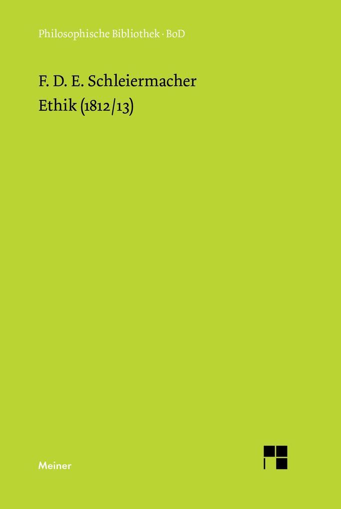 Ethik (1812/13) als Buch