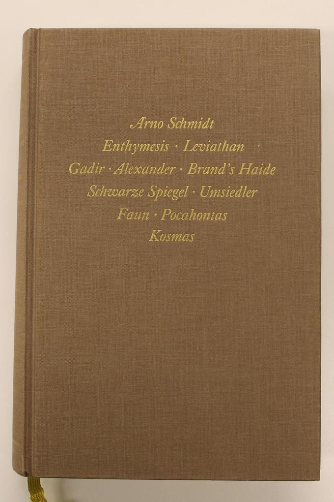 Bargfelder Ausgabe. Standardausgabe. Werkgruppe 1, Band 1 als Buch