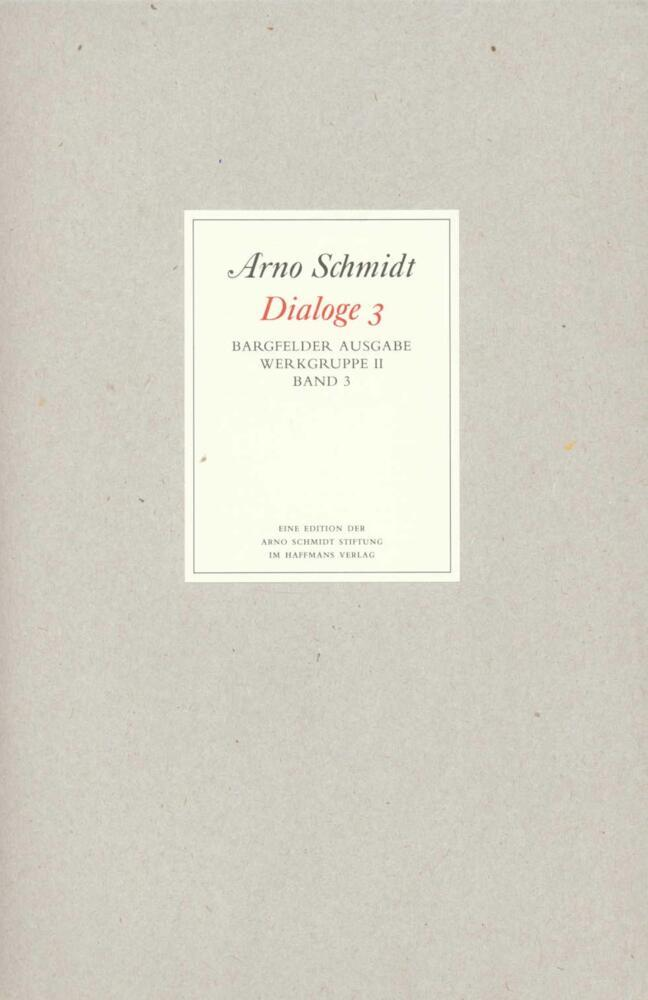 Bargfelder Ausgabe. Standardausgabe. Werkgruppe 2, Band 3 als Buch