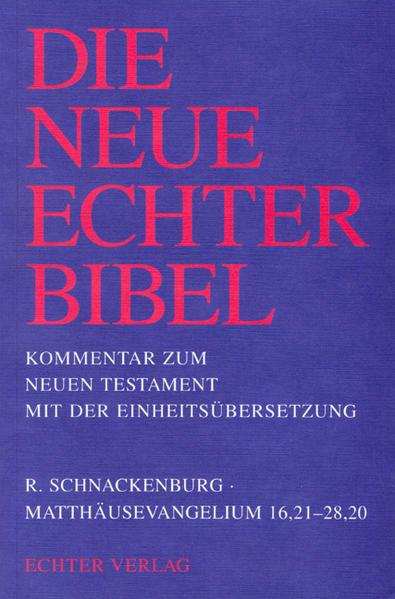 Matthäusevangelium 16,21 - 28,20 als Buch