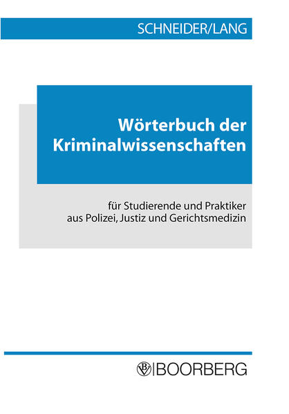 Wörterbuch der Kriminalwissenschaften als Buch