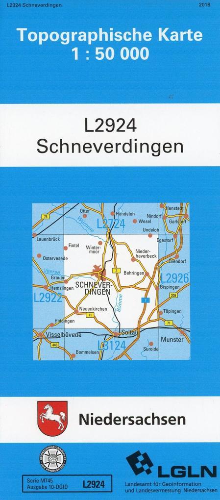 Schneverdingen 1 : 50 000. (TK 2924/N) als Buch