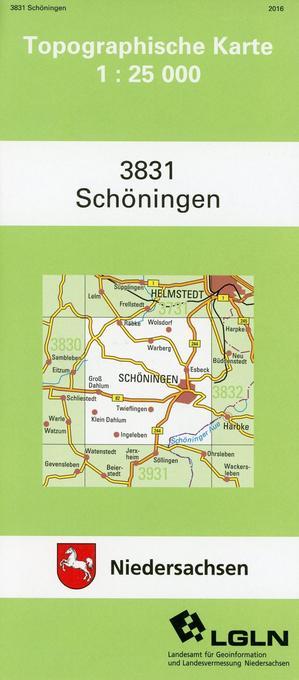 Schöningen 1 : 25 000 als Buch