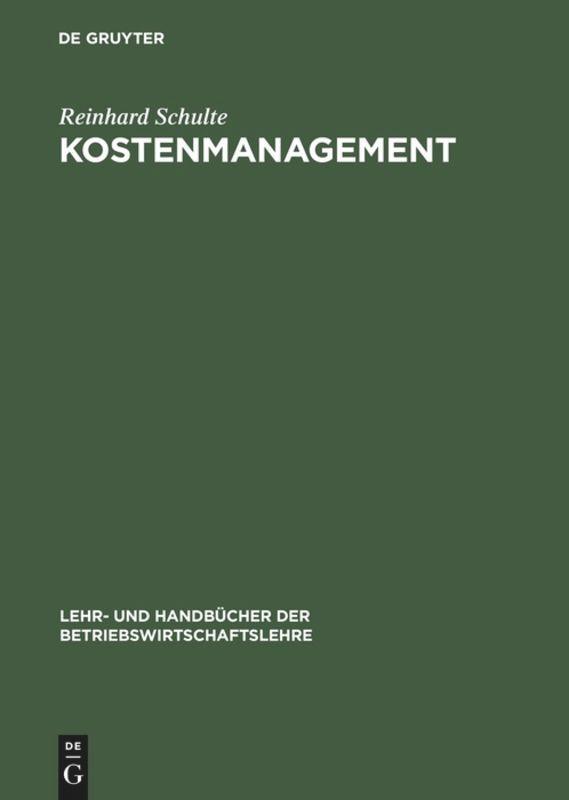 Kostenmanagement als Buch