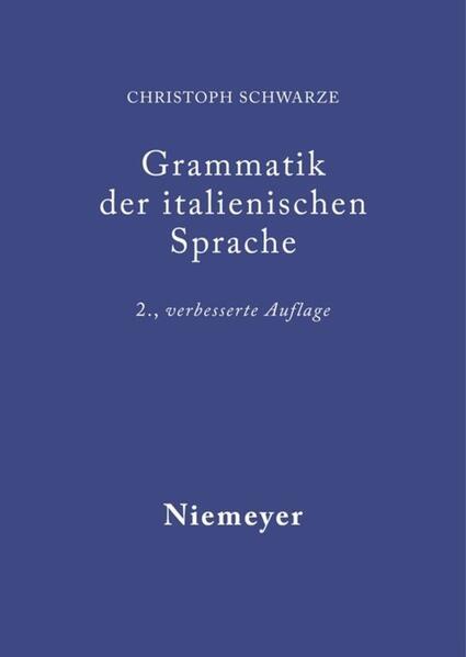 Grammatik der italienischen Sprache als Buch