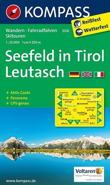 Seefeld in Tirol, Leutasch 1 : 25 000 als Buch