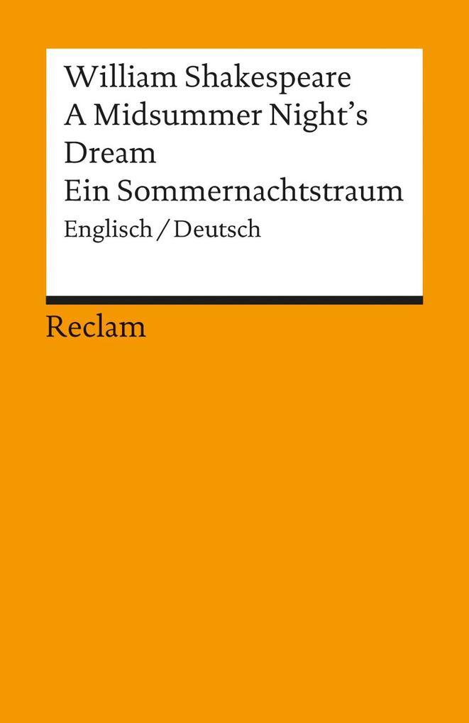 Ein Sommernachtstraum / A Midsummer Night's Dream als Taschenbuch