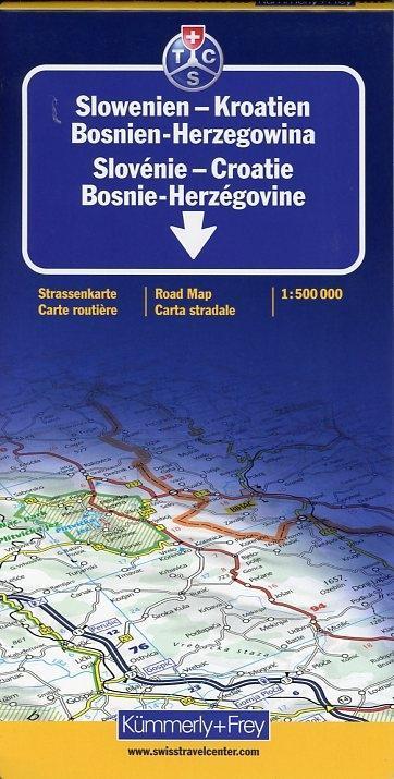 Slowenien / Kroatien / Bosnien-Herzegowina 1 : 500 000. Straßenkarte als Buch