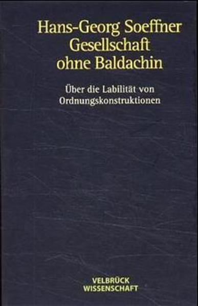 Gesellschaft ohne Baldachin als Buch