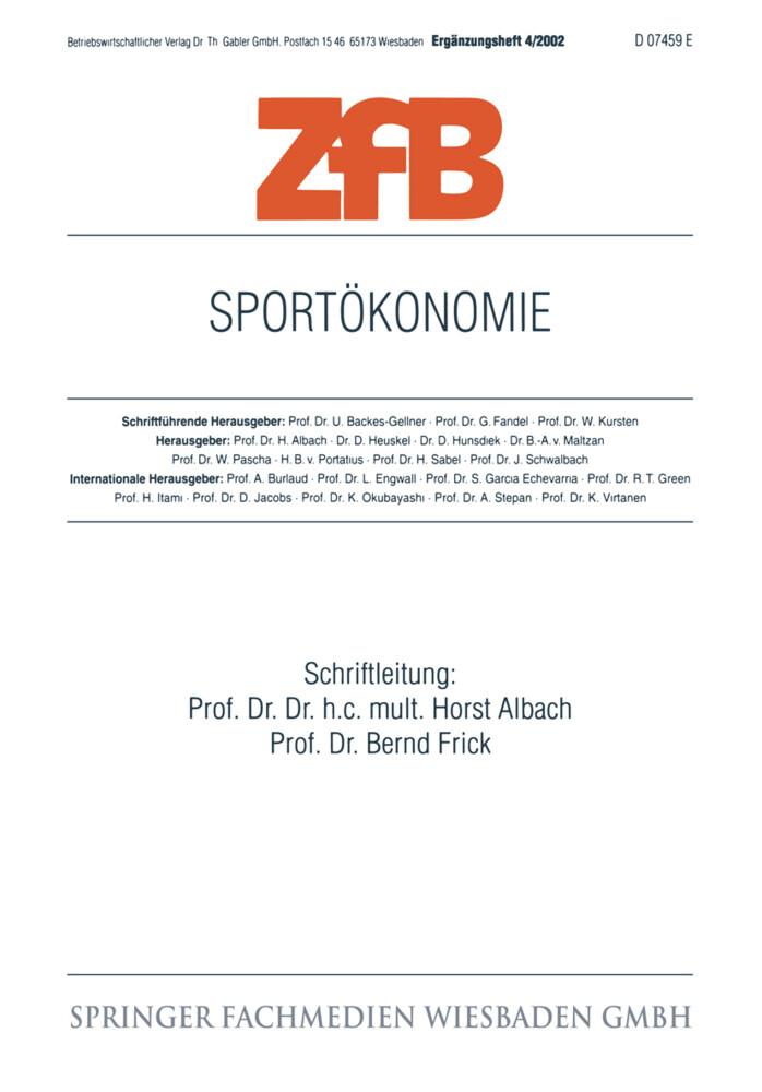 Sportökonomie als Buch