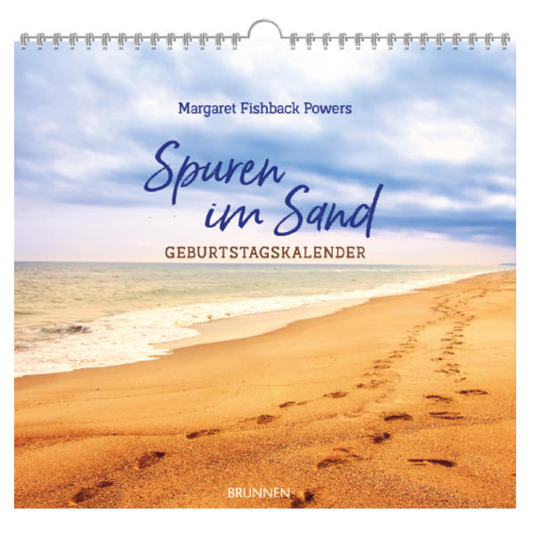 Spuren im Sand. Geburtstags-Kalender als Buch