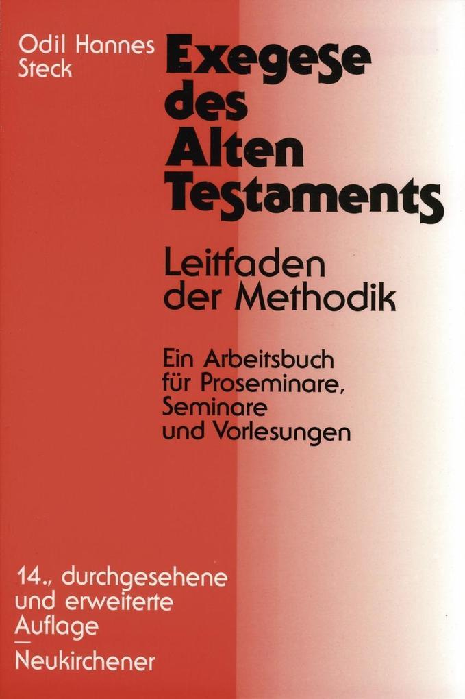 Exegese des Alten Testaments als Buch