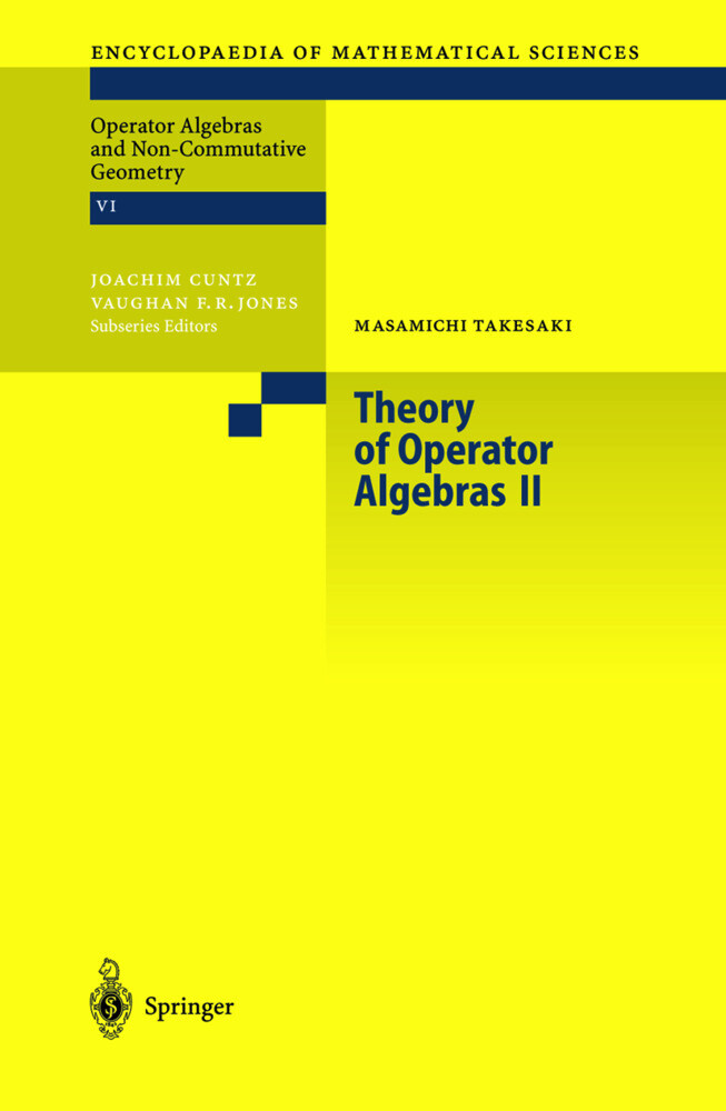Theory of Operator Algebras 2 als Buch